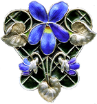 Art Deco Violet jewelry element