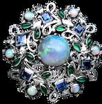Art Nouveau Opal Bonanza - silver jewelry element