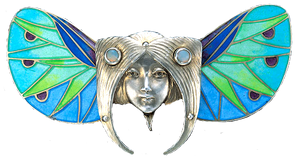 Art Deco Faerie Wings Head jewelry element by LilipilySpirit