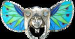 Art Deco Faerie Wings Head jewelry element