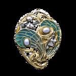 Art Nouveau Sylph jewelry element
