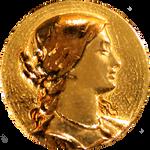 Art Nouveau Victorian Woman's Head gold jewelry