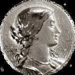 Art Nouveau Victorian Woman's Head silver jewelry