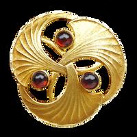 Art Deco Gingko Brooch gold by LilipilySpirit