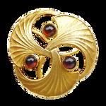 Art Deco Gingko Brooch gold
