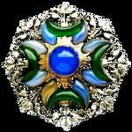 Art Deco Sibyl Dunlop brooch c1930