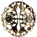 Art Nouveau Filigreed Flower Medallion jewelry
