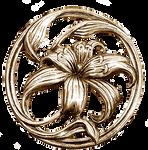 Art Nouveau Lilium silver jewelry element