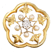 Art Nouveau Pearl and Diamond brooch by LilipilySpirit