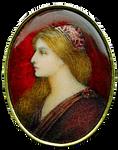 Art Nouveau Renaissance Woman jewelry element
