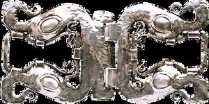 Art Deco Silver Hinged Brooch