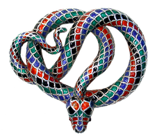 Victorian Enamelled Snake jewelry element by LilipilySpirit