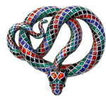 Victorian Enamelled Snake jewelry element