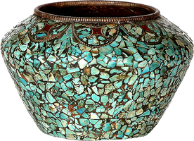 Buddhist Turquoise Bowl by LilipilySpirit