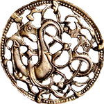 Ancient Nordic Viking Dragons jewelry element