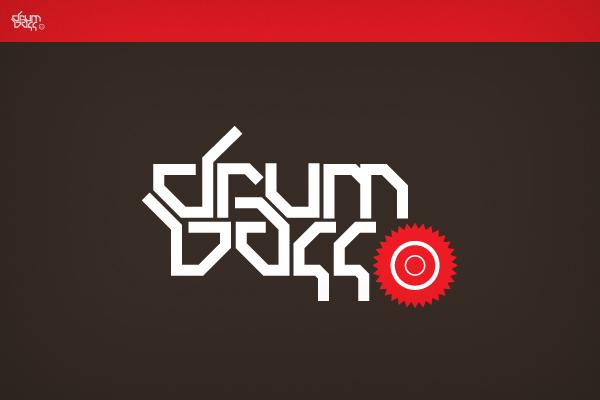 Drum n bass logotype by denull