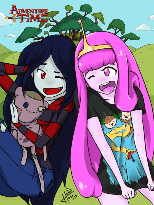 Adventure Time - Marceline and Princess Bubblegum by