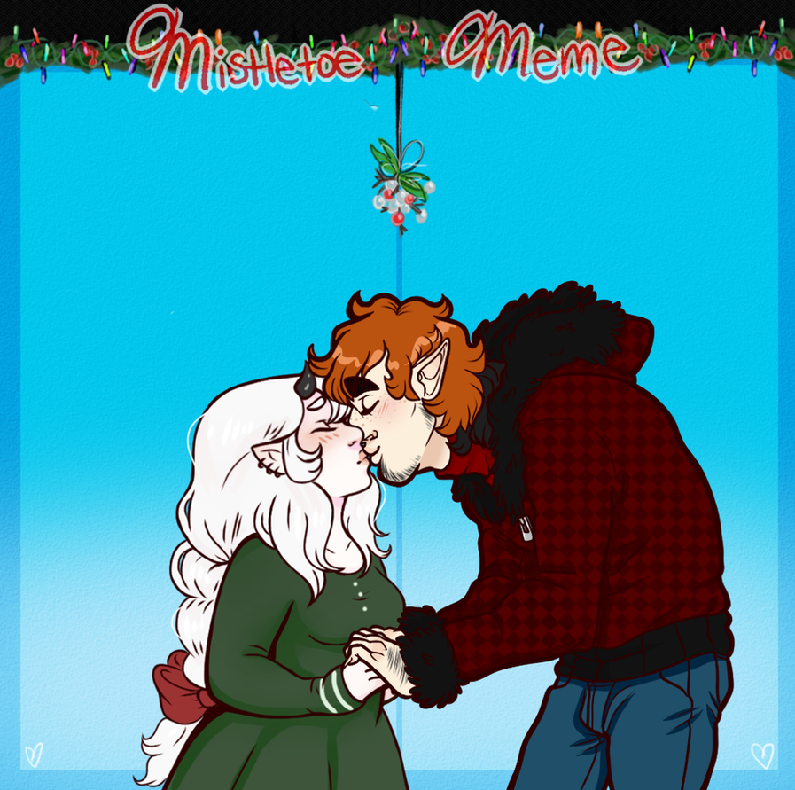 Malcolm Grendy Mistletoe meme by Askthewerewolfprince