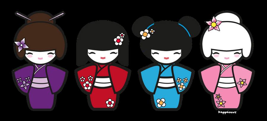 kokeshi dolls by KappaNove on DeviantArt
