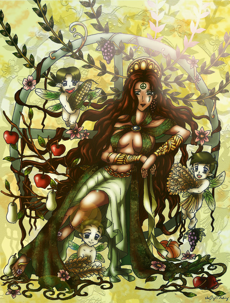 Gaea mother earth by lordaphaius28 on deviantart Goddess of nature greek