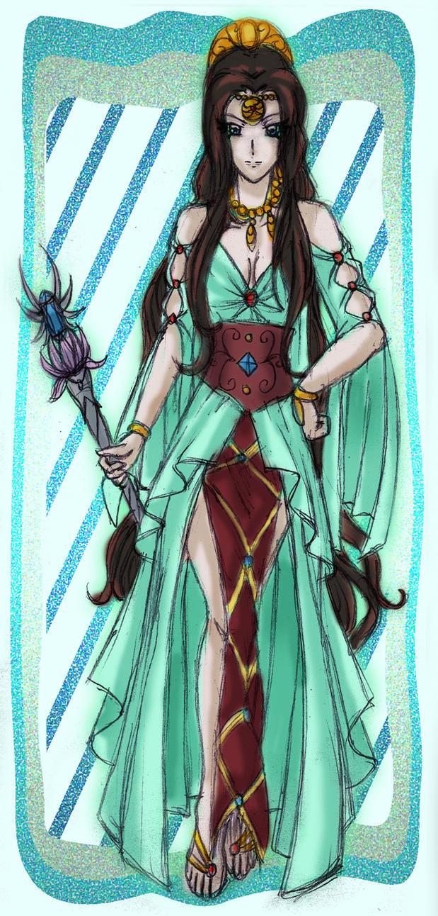 Paint Art - Goddess Hylia by TheDreamTraveler on DeviantArt