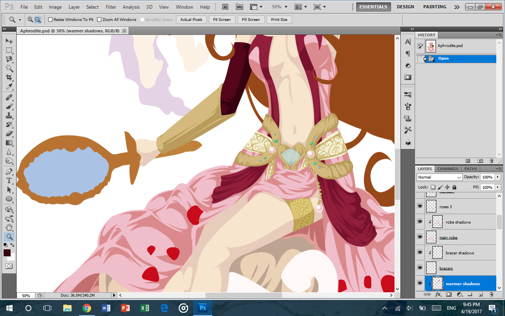 Olympian Aphrodite WIP by lordaphaius28