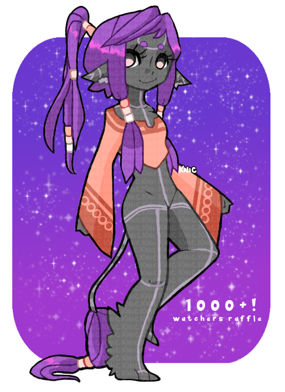 (CLOSED) FREE 1000+ WATCHERS RAFFLE by KNicARTS