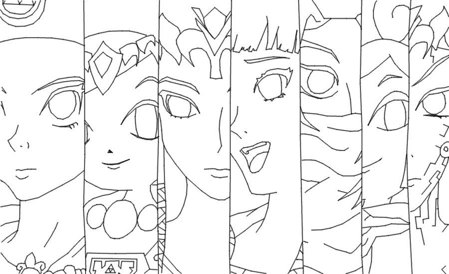 Line Art Zelda : Zelda collection line art by legend of awakening on deviantart