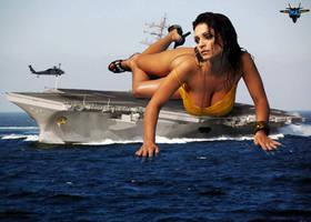Giantess Denise Milani by MAZ-629999