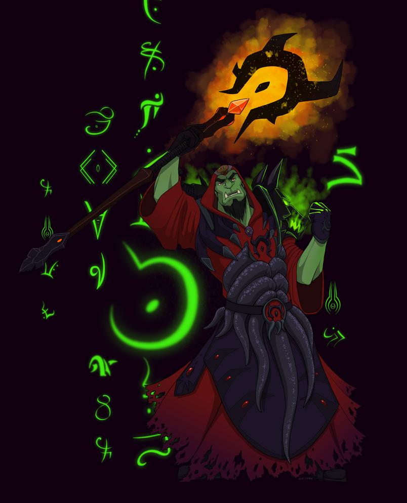Orc Warlock by baenling