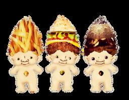 Junk Food Trolls- Mr Fry, Mc Burger and Dr Pepper by SugarHit