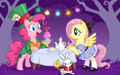 Fluttershy in Wonderland by DrChrissy