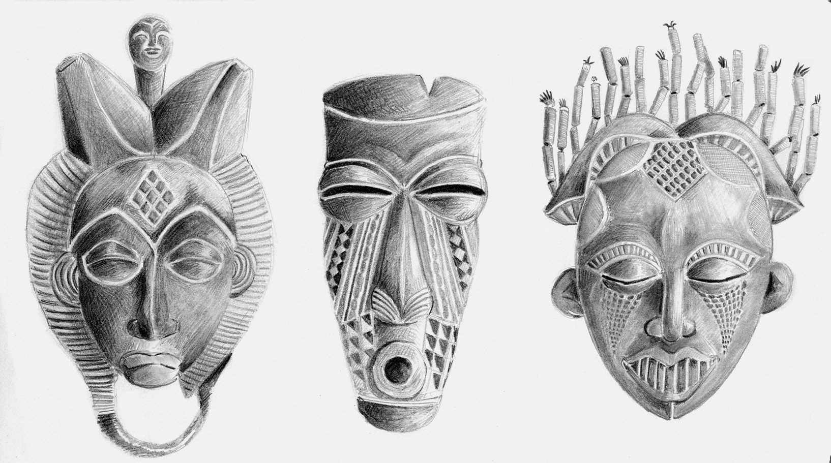 African masks by drchrissy african masks by drchrissy