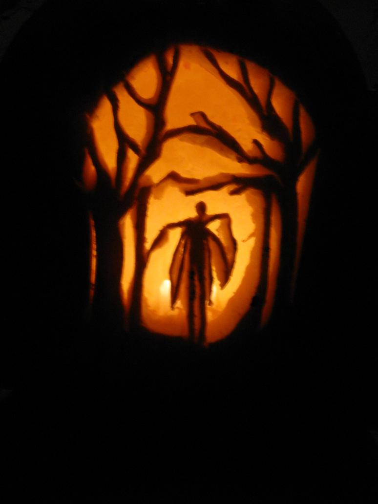 Slender Man jack'o'lantern by Mistress-D
