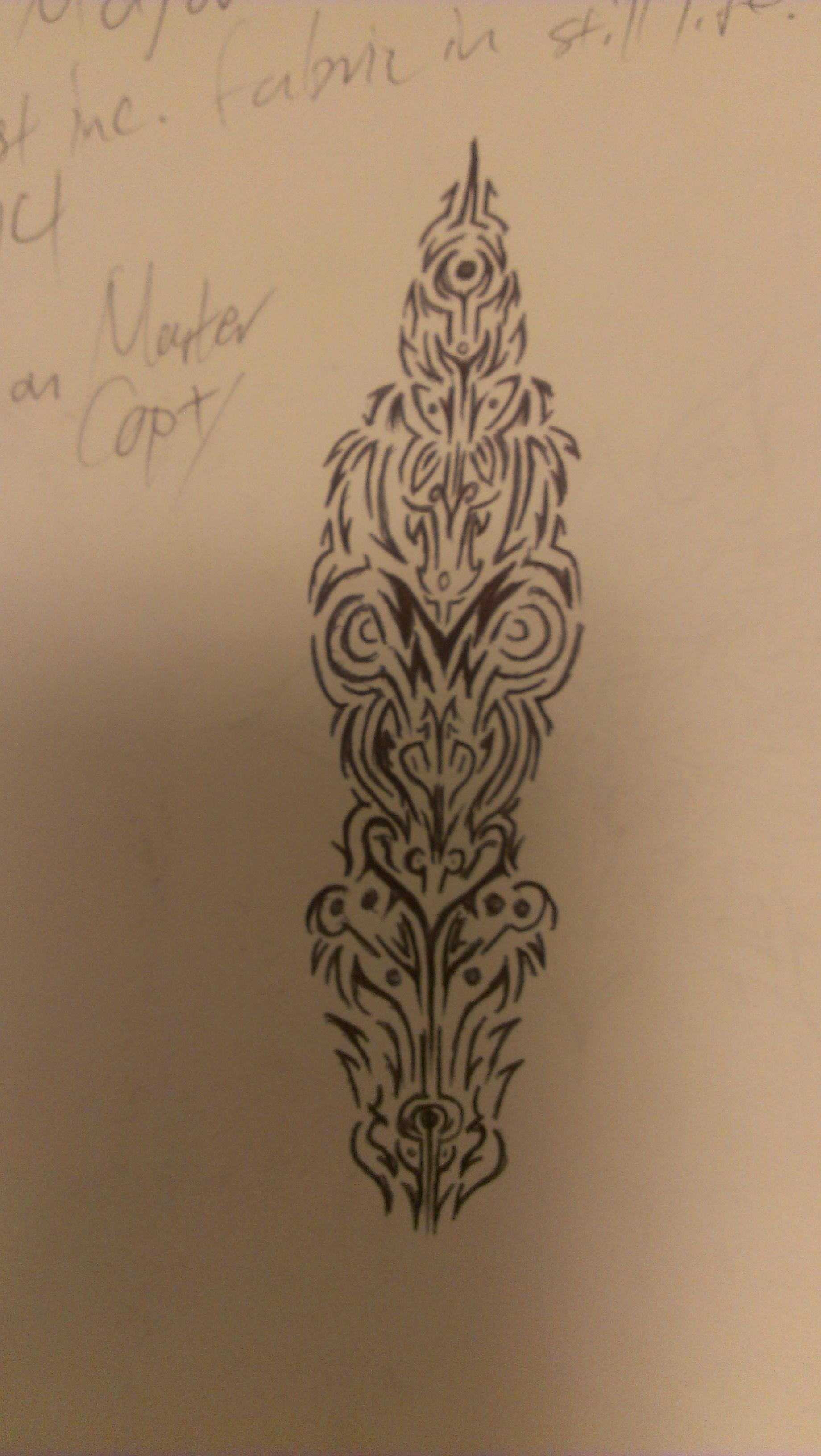 linear tattoo design by kitsunevessel on deviantart. Black Bedroom Furniture Sets. Home Design Ideas