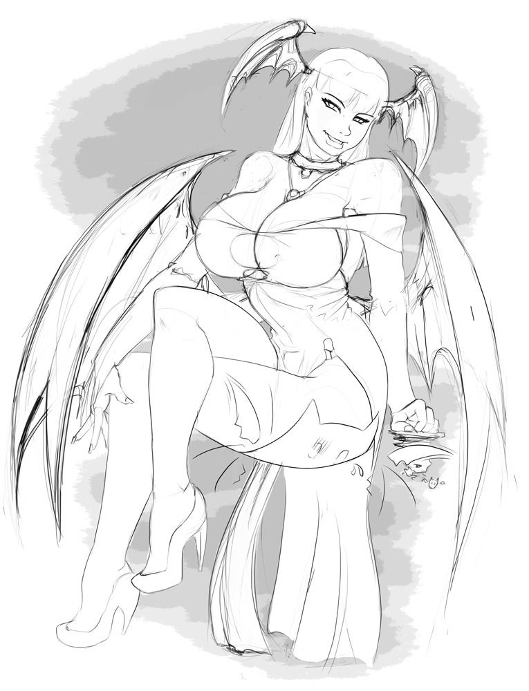 Morrigan Sketch by shyft9