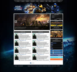 Halo Gaming Layout - For sale by FloxDesign