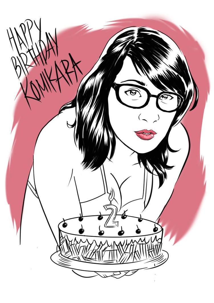 Gift for Komikara's 2nd Anniversary by baskara
