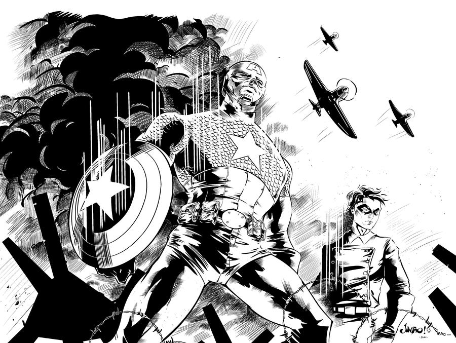 WWII Captain America by MindWinder