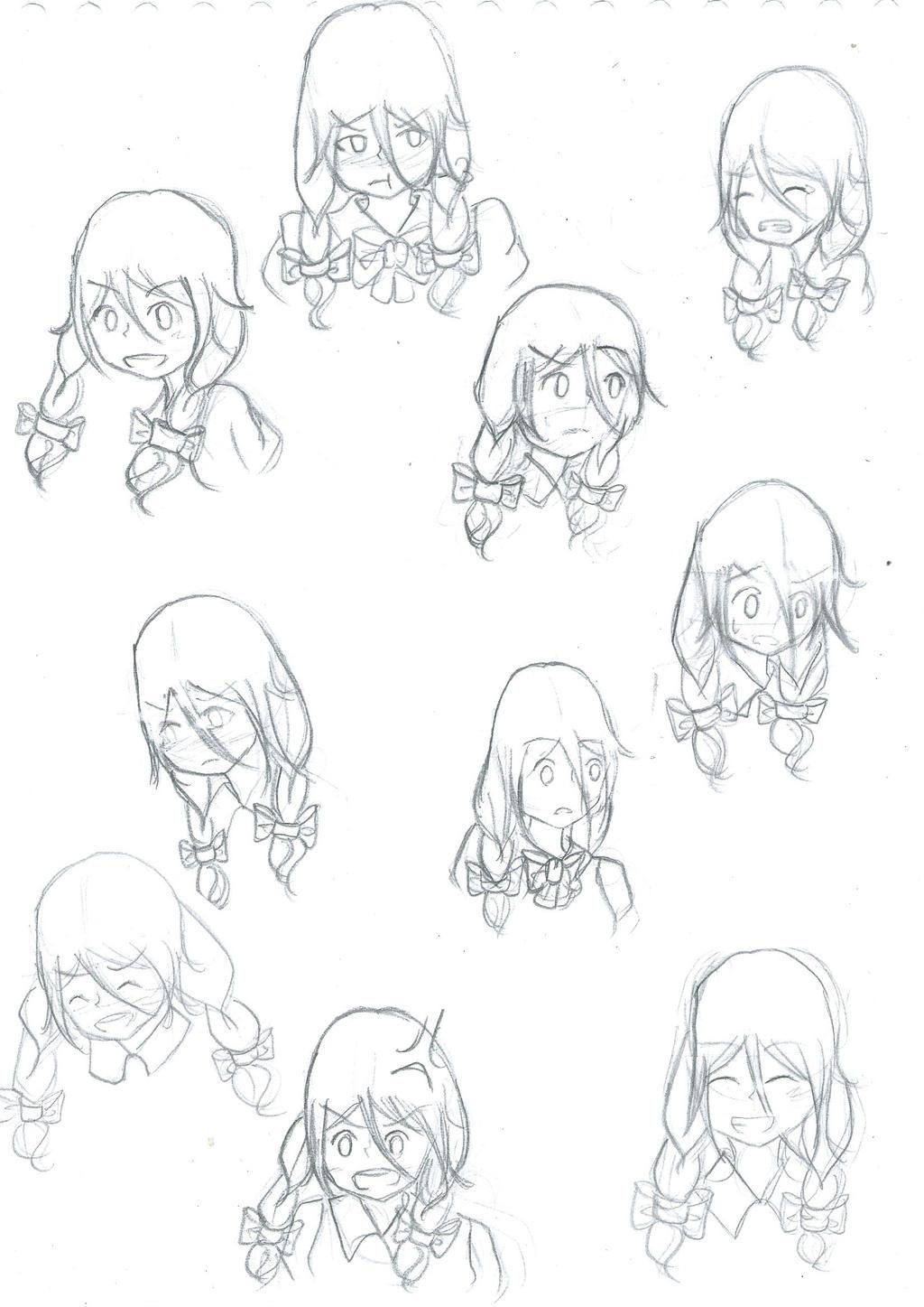 Sketch Dump : Shizuko by Shizuko-Akatsuki