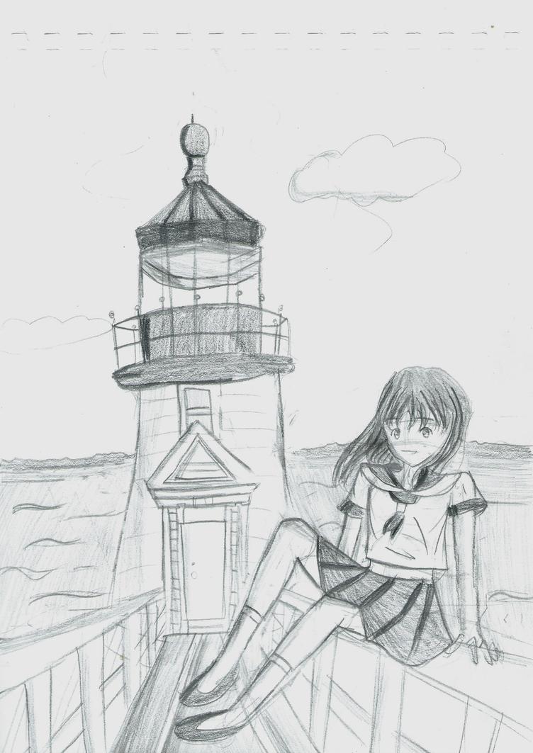 Sketch : Lighthouse by Shizuko-Akatsuki