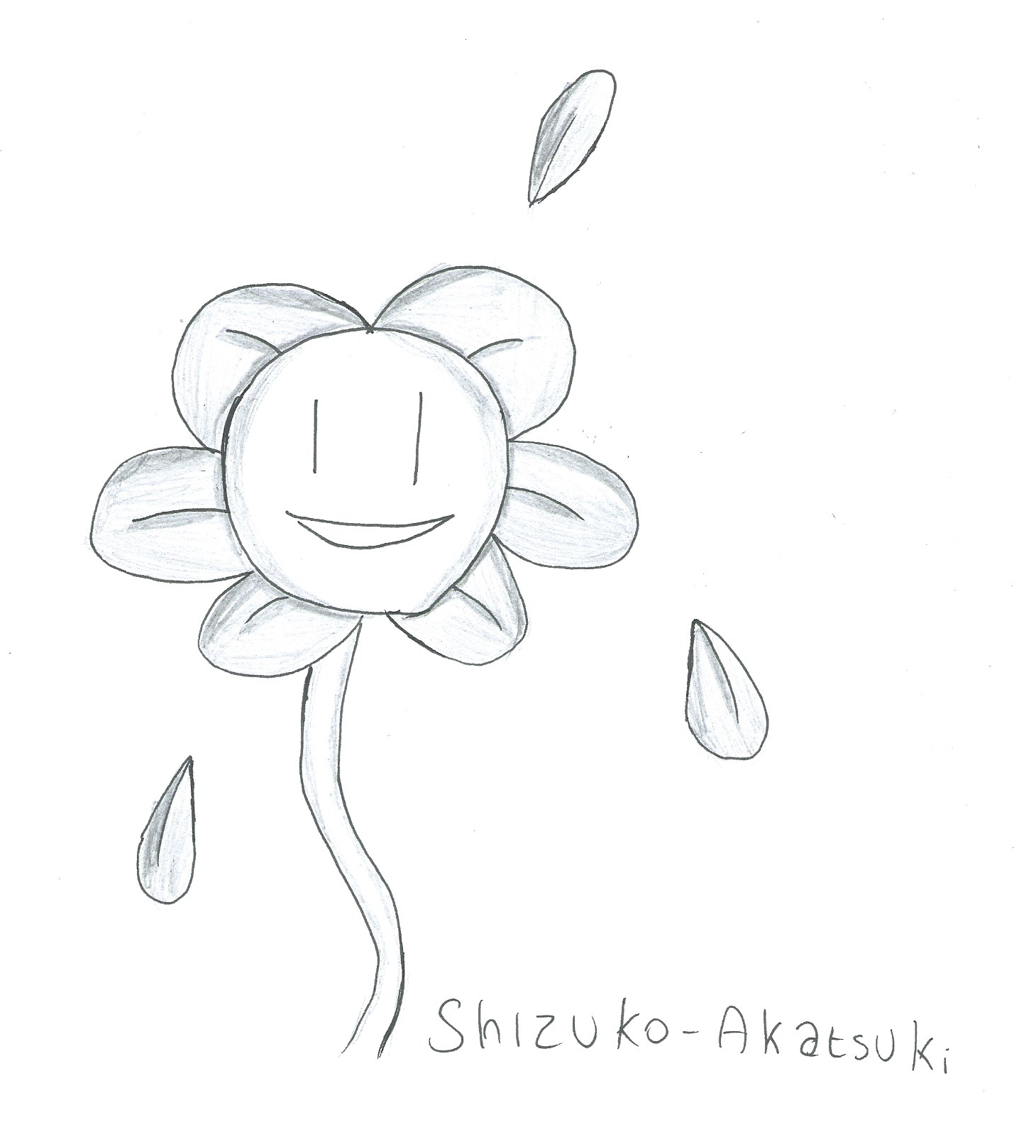 [Inktober] Day 11 : Flowey by Shizuko-Akatsuki
