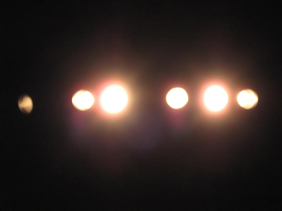 Bright Stage Lights Stock