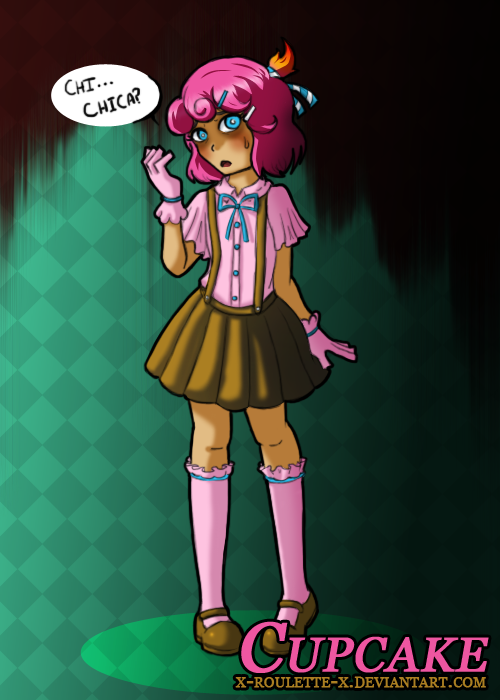 Fnaf human chica s cupcake by x roulette x