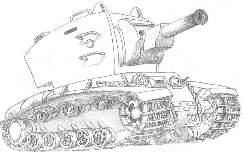 Рисуем поэтапно танки из world of tanks
