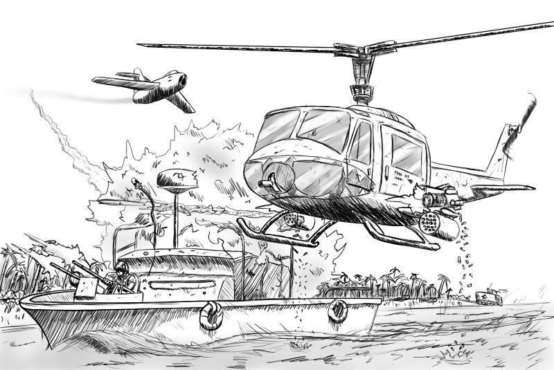 Battlefield Vietnam Doodle by TheSourKraut