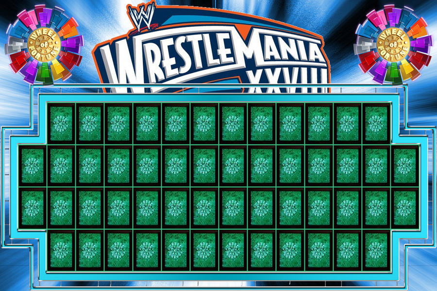 Wheel of Fortune WrestleMania Edition by wwe-xtreme on ...