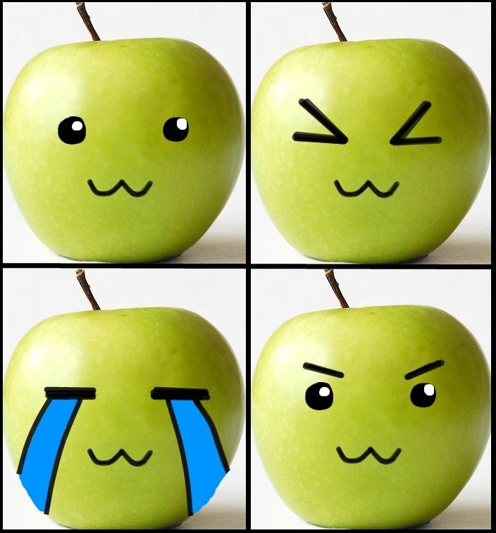 Cute Green Apple Cute green apples xd by nekodreamer