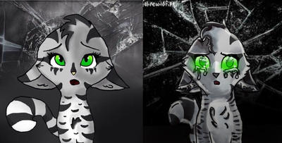 Shattered - 2016 vs 2018 by felinewildfire