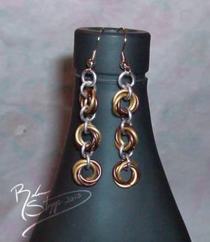 Autumn Mobius Earrings